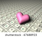A Heart Mark On 1 Dollar Bills