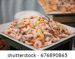 buffet service | Shutterstock . vector #676890865