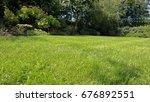 garden and lawn in summer ... | Shutterstock . vector #676892551