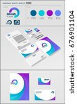business corporate identity... | Shutterstock .eps vector #676901104