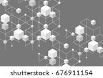 abstract line background.... | Shutterstock .eps vector #676911154