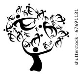 family tree ancestors and... | Shutterstock . vector #67691131