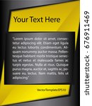template yellow  black and...   Shutterstock .eps vector #676911469