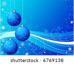 christmas decorations with blue ...   Shutterstock .eps vector #6769138