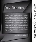 template silver  black and...   Shutterstock .eps vector #676914139
