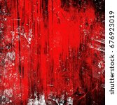 red and white grunge background.... | Shutterstock . vector #676923019
