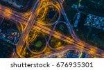 top view over the highway ... | Shutterstock . vector #676935301