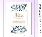 romantic invitation. wedding ... | Shutterstock . vector #676935469