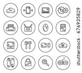 outline it icon set | Shutterstock .eps vector #676935829
