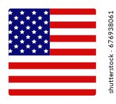 vector illustration of usa flag  | Shutterstock .eps vector #676938061