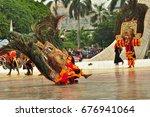 jakarta  indonesia   april 23 ... | Shutterstock . vector #676941064
