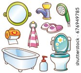 vector illustration of cartoon... | Shutterstock .eps vector #676949785