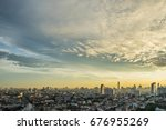 downtown in the morning in... | Shutterstock . vector #676955269