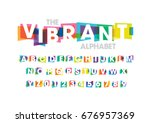 vector of modern colorful font... | Shutterstock .eps vector #676957369