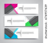 vector set abstract geometric... | Shutterstock .eps vector #676957639
