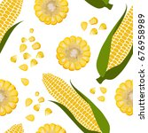 vector seamless pattern with... | Shutterstock .eps vector #676958989