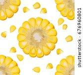 vector seamless pattern of ripe ... | Shutterstock .eps vector #676960801