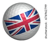 golf ball with united kingdom... | Shutterstock . vector #676962799