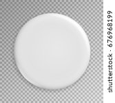 blank white badge . realistic... | Shutterstock . vector #676968199