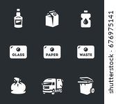Vector Set Of Garbage Icons.