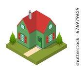 residential building isometric... | Shutterstock .eps vector #676979629