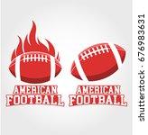 american football logo | Shutterstock .eps vector #676983631