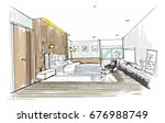 home interior furniture with...   Shutterstock . vector #676988749