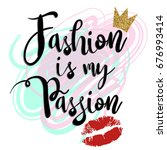 fashion is my passion. girlish... | Shutterstock .eps vector #676993414