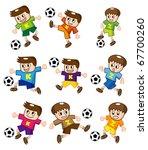 cartoon soccer  icon | Shutterstock .eps vector #67700260
