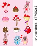 cartoon valentine icon | Shutterstock .eps vector #67700263
