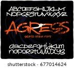 graffiti style font named ...   Shutterstock .eps vector #677014624