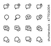 icon set   chat and messages | Shutterstock .eps vector #677016304