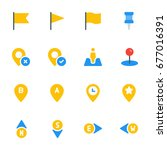 icon set   location and maps | Shutterstock .eps vector #677016391