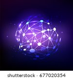 abstract dots ball or sphere... | Shutterstock .eps vector #677020354