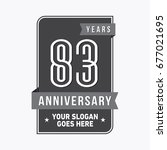 83 years anniversary design... | Shutterstock .eps vector #677021695