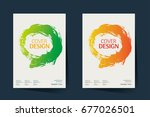 book cover  annual report... | Shutterstock .eps vector #677026501