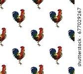 seamless pattern background... | Shutterstock .eps vector #677029267