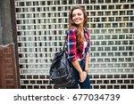 summer sunny lifestyle fashion... | Shutterstock . vector #677034739