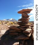 Small photo of Rock formation of the altiplano in Bolivia.