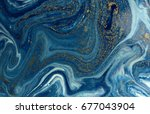 marbled blue and golden... | Shutterstock . vector #677043904