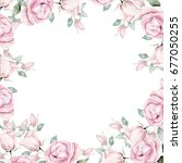watercolor template. greeting... | Shutterstock . vector #677050255