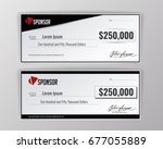 template for event winning... | Shutterstock .eps vector #677055889