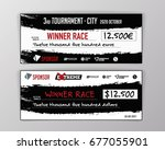 template for event winning... | Shutterstock .eps vector #677055901