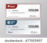 template for event winning... | Shutterstock .eps vector #677055907