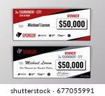 template for event winning... | Shutterstock .eps vector #677055991
