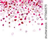 heart shape outline love... | Shutterstock .eps vector #677060575
