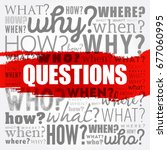 questions whose answers are... | Shutterstock .eps vector #677060995