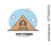egypt pyramid. landmark concept | Shutterstock .eps vector #677063431