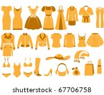 woman's clothes  fashion and... | Shutterstock .eps vector #67706758