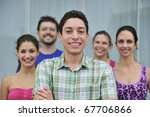 happy and diverse group of... | Shutterstock . vector #67706866